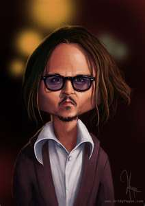 caricature jhonny depp
