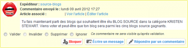 Proposes ton blog comme source