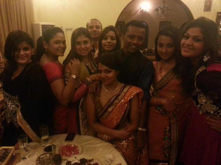Trisha with her friends