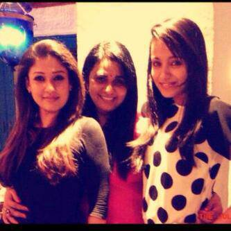 Trisha with her friends