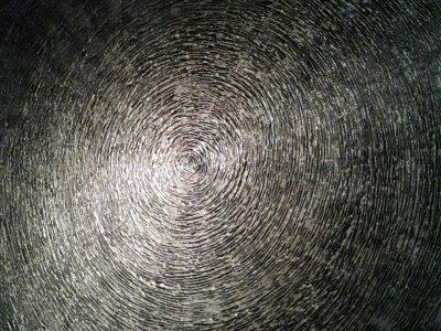 Spirale argent 70x70