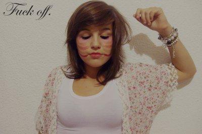 Les roses sont rouges, les violettes sont violettes, j'ai cinq doigts et celui du milieu est pour toi. C O N N A R D !