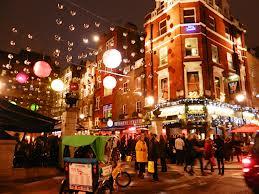 Noel dans un quartier de Londres