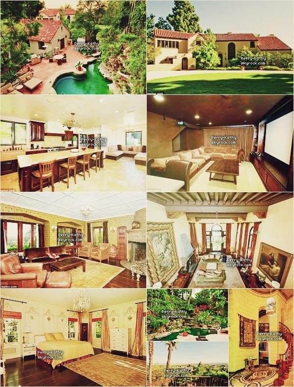 Katy Perry et son mari  ont finalement racheté une demeure en Californie pour le prix de 6,500,000 $. Rappel : Ils ont vendu leur ancienne maison de Los Feliz pour 3,395,000 $ en Mai 2011 (article associé) + Découvrez plusieurs photos datant de ses derniers jour //  VOTEZ POUR PERRY-KATHY !