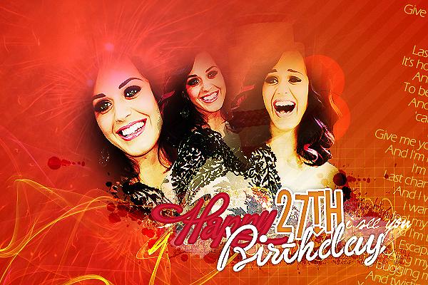 En ce 25 Octobre 2011, Katy Perry fête ses 27 ans. Qu'est-ce qu'on lui dit ?!