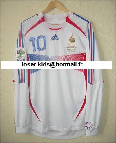 maillot préparé pour Zidane finale de la coupe du monde 2006 Italie-France