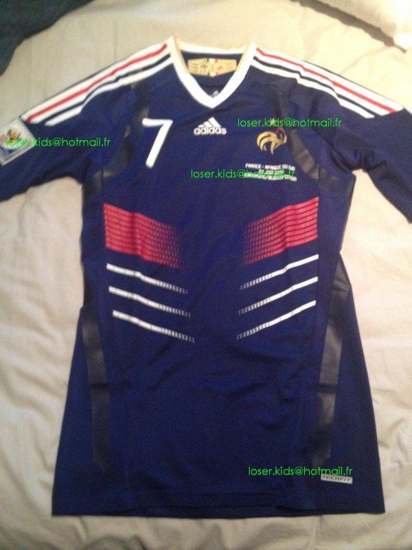 Maillot porté Ribery : France-Afrique du Sud (Coupe du Monde 2010)