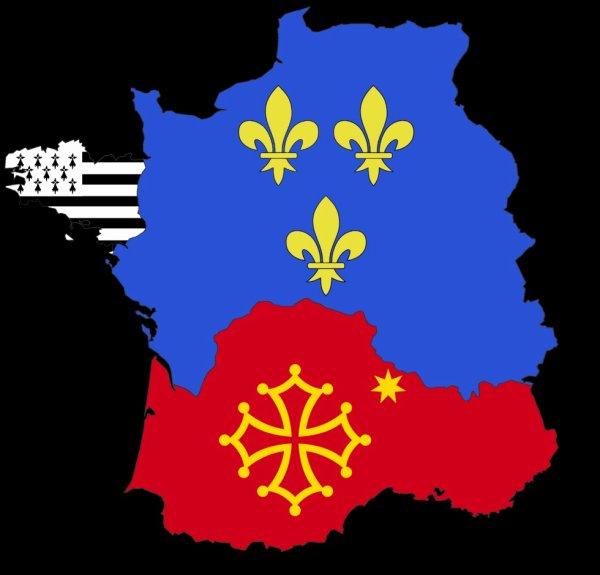 Pays d'Oïl + Occitanie + Bretagne
