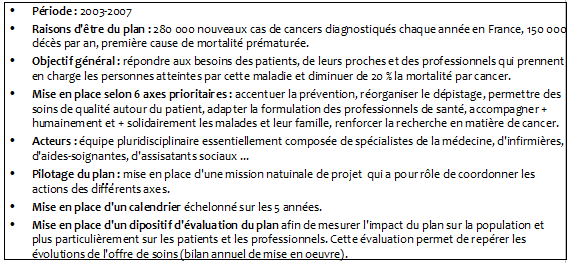 Pôle 3 : (26) Les plans de santé publique