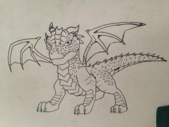 Dragon encre de chine