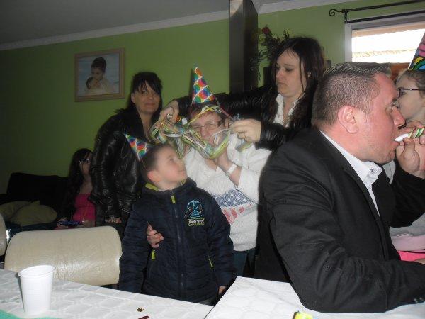 et oui ces toujours la communion chez ma fille sylvie et mon beau-fils didier