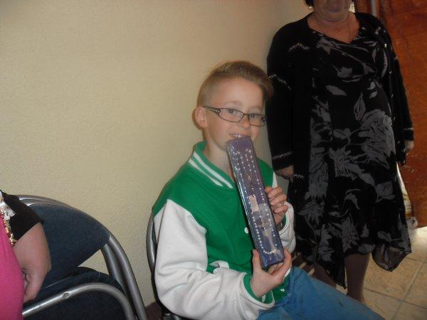 les cadeaux de mon petit fils pour sa communion il a été trop content
