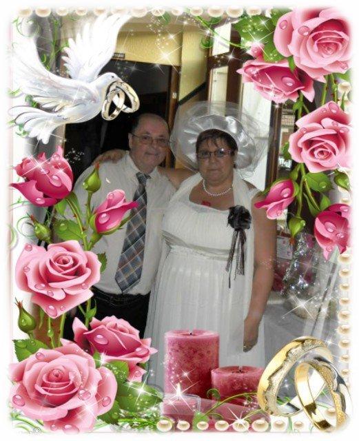 bonsoir mon amie RENOUVEAU1961 pour ce merveilleux cadeau d'anniversaire de mariage sa ma fait super plaisir je te souhaite une très bonne fin de soirée ainsi qu'une bonne et douce nuit gros bisous