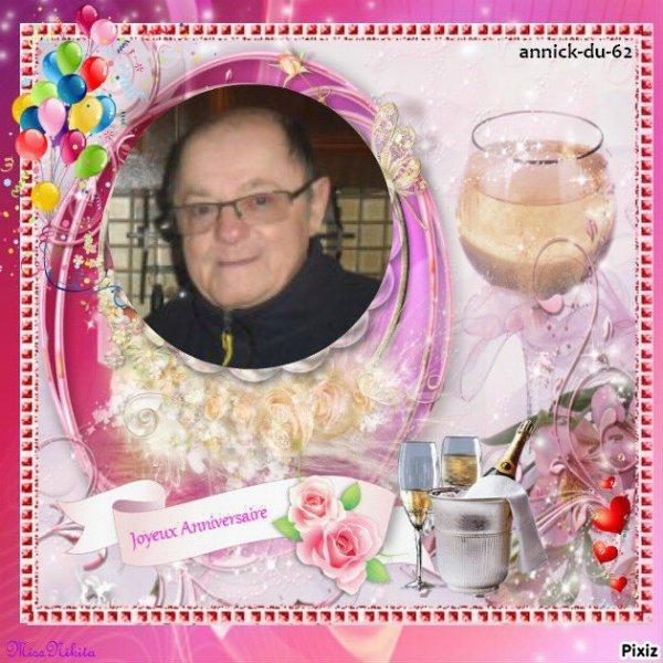 bonjour mon amie annick-du-62 merci pour ce magnifique cadeau pour mon anniversaire qui me fait plaisir j'espère que tu vas bien merci encore pour tout c'est gentil moi je te souhaite une bonne après-midi et je t'envoi tout plein de gros bisous