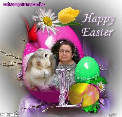 bonjour mon amie Cadeauxpourmesamies merci pour ce merveilleux cadeau pour pàques il est supère jolie je te souhaite une bonne fin d'après-midi et je t'envoi tout plein de gros gros bisous d'amitié