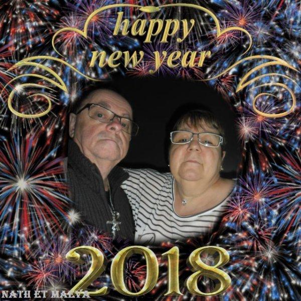 bonsoir mon amie uline-et-maeva merci pour vos voeux moi je vous souhaitent une bonne année 2018 avec tout plein de bonne chose surtout la santé j'espère que vous allez bien avec ce temps qui c'est pas ce qu'il veut je vous fais tout plein de gros bisous
