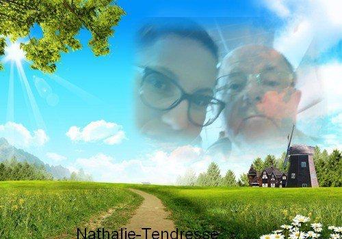 bonjour mon amie Nathalie-Tendresse merci pour ce magnifique cadeaux il est trop beau j'espère que vous allez bien moi sa vas a par la chaleur car c'est pas très bon pour les asthmatiques comme moi et ma femme je vous souhaitent une bonne fin d'après-midi et je vous envoient tout plein de gros bisous