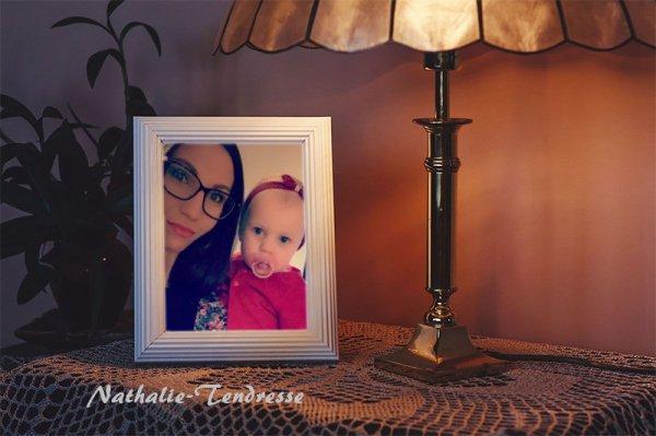 Bonsoir mon amie Nathalie-Tendresse merci pour ce sublime montage de ma fille Clémentine et ma petite fille Enaelle c'est vraiment merveilleux sa ma trop fait plaisir je te souhaite une bonne et fin de soirée ainsi qu'une douce nuit et aussi un très bon Week-End je t'envoi des gros bisous