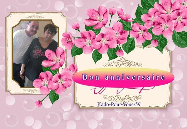 Bonsoir mon amie Kado-Pour-Vous-59 merci pour ce sublime cadeaux de notre anniversaire de Mariage sa me fait super plaisir moi je te souhaite une bonne et douce soirée et je t'envoi des gros bisous d'amitié