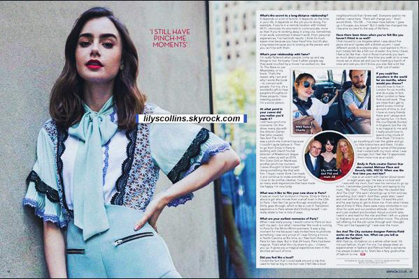 MAGAZINE ✧  Découvrez l'article sur Lily Collins  dans le OK UK Magazine - Octobre 2020