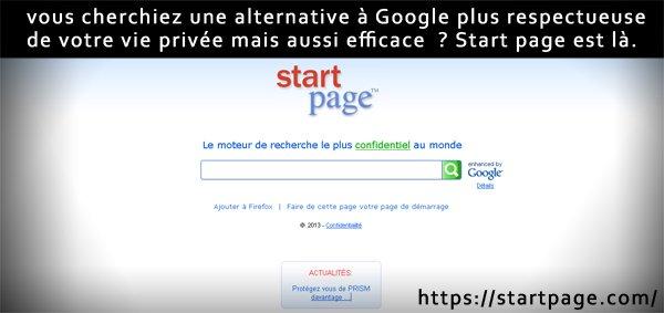 Start Page, le moteur de recherche le plus confidentiel au monde.