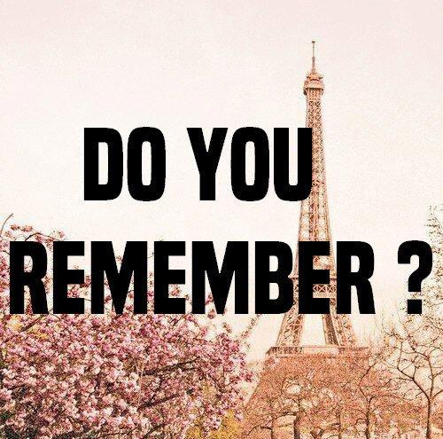 « Te souviens-tu ? »