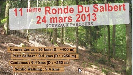 Ronde du Salbert Trail  de 16km avec 400m D+ (Cravanche 90) le 24/03/2013