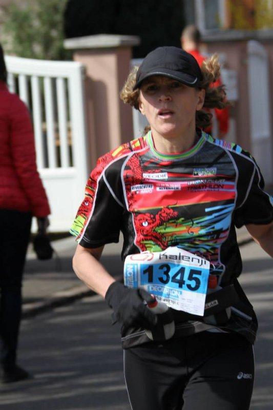 Trail du petit ballon à Rouffach (68) le 16 mars 2014