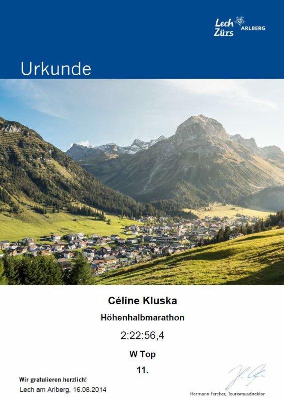 Triathlon L de Vouglans (39) le 24 août 2014 et semi-marathon d´altitude à Lech en Autriche 16 août 2014