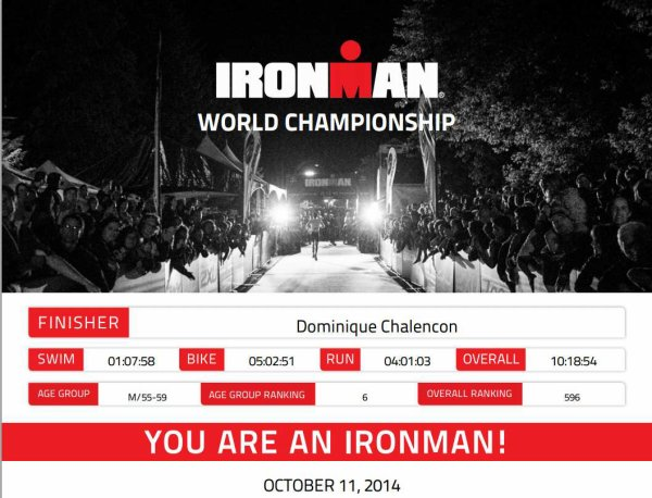 IRONMAN WORLD CHAMPIONSHIP Kailua-Kona, Hawaii le 11 octobre 2014