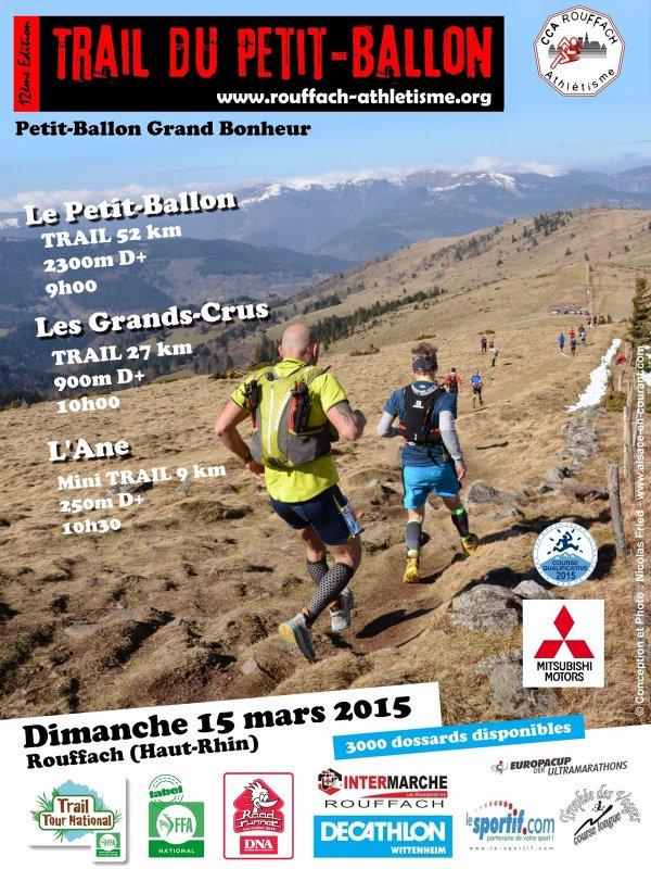 Trail du Petit Ballon à Rouffach (68) le dimanche 15 mars 2015