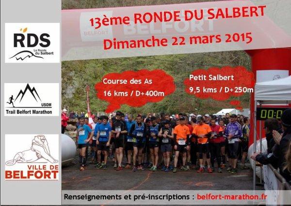 Ronde du Salbert à Belfort (90) le dimanche 22 mars 2015