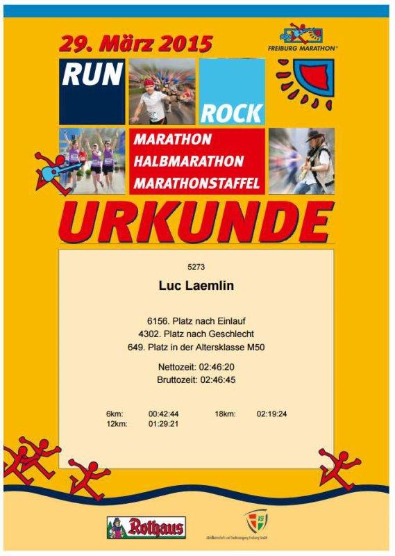 Semi-marathon de Freiburg (Allemagne) le 29 mars 2015