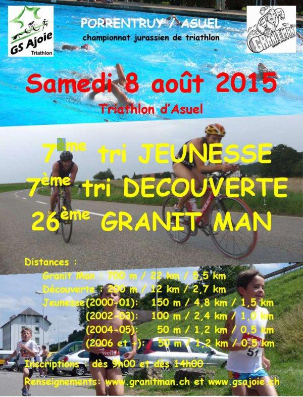 26ème Granit Man d'Asuel (CH) le samedi 8 août 2015