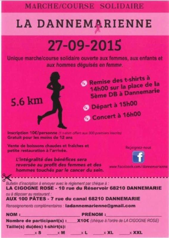 Marche course solidaire La Dannemarienne et les mulhousiennes, le 27 septembre 2015