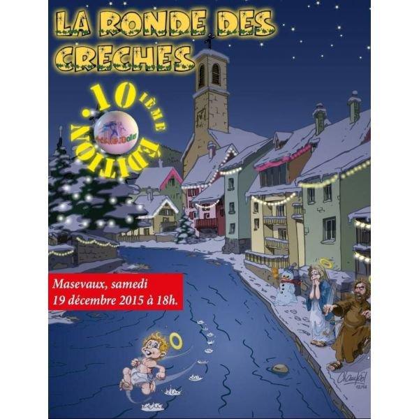 10ème Ronde des creches de masevaux (68) le 19 décembre 2015 et le morning trail