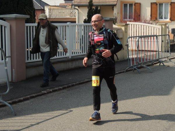 Trail du Petit ballon à Rouffach(68) le 20 mars 2016