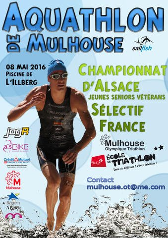 Aquathlon de Mulhouse (68) le 8 mai 2016