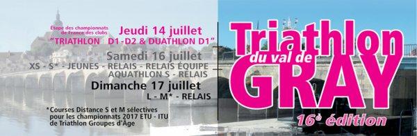 Triathlon Val de Gray (70) le dimanche 17 juillet 2016