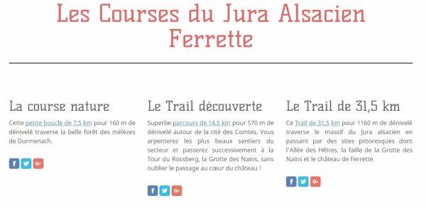 Les Courses du Jura Alsacien  Ferrette le Dimanche 14 Août 2016