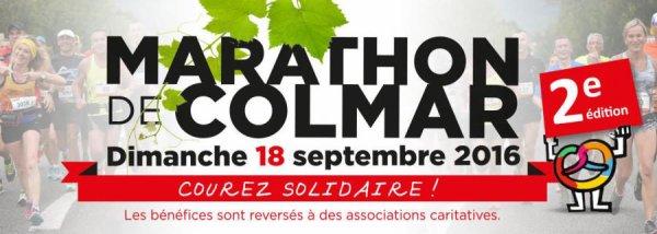 Marathon de Colmar (68) le 18 septembre 2016