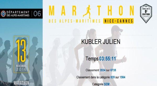 Marathon de Nice-Cannes (06) le 13 novembre 2016