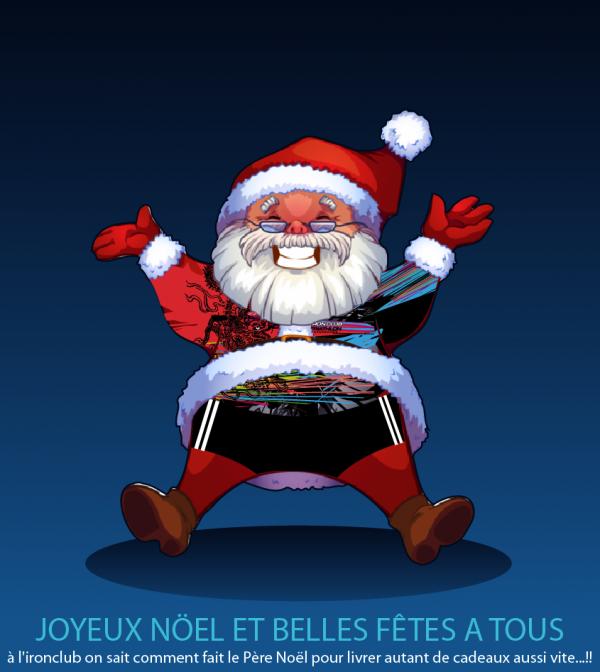 L´IRONCLUB vous souhaite un joyeux noël et de belles fêtes de fin d´année.