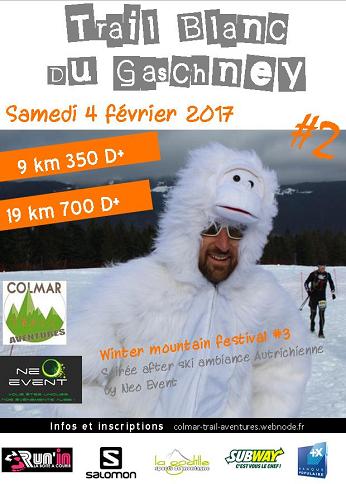 Trail blanc du Gaschney le samedi 4 février 2017