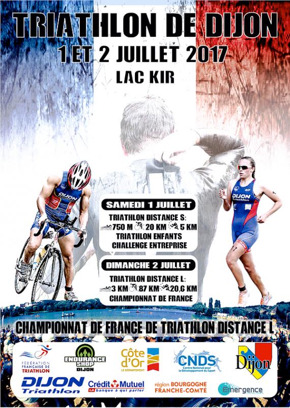 CHAMPIONNAT DE FRANCE DE TRIATHLON L à Dijon (21) le 02/072017