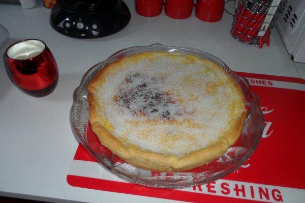 J ' ai fait une tarte flan noix de coco