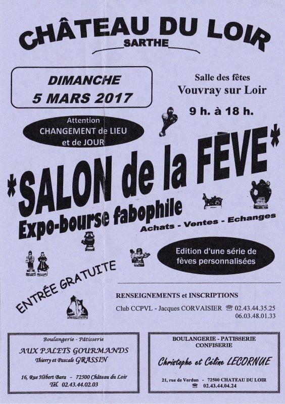 L'AFS sera présente en visiteur au Salon de la Fève le dimanche 5 Mars 2017 au Château du Loir (72)