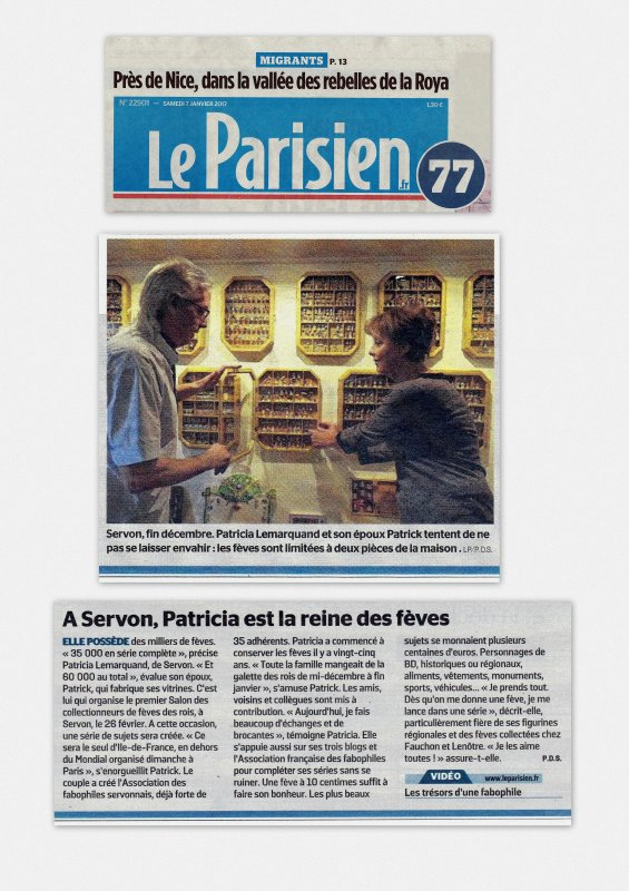 Fabopat dans Le Parisien77 du Samedi 7 Janvier 2017