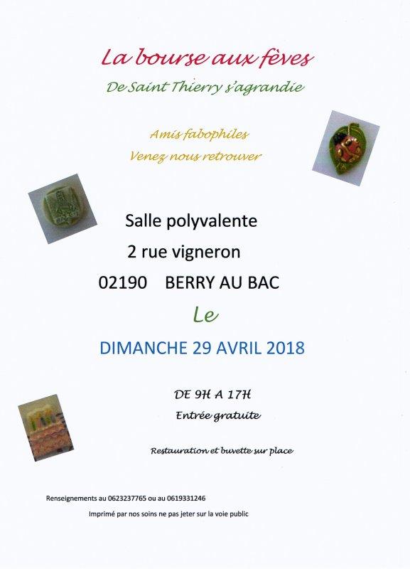 L'AFS sera Exposant au Salon de Saint Thierry le Dimanche 29 Avril 2018
