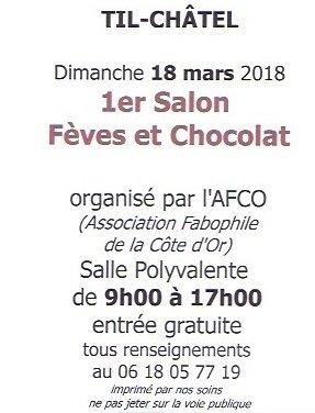L'AFS sera présente au 1er Salon Fèves et Chocolat en Côte d'Or